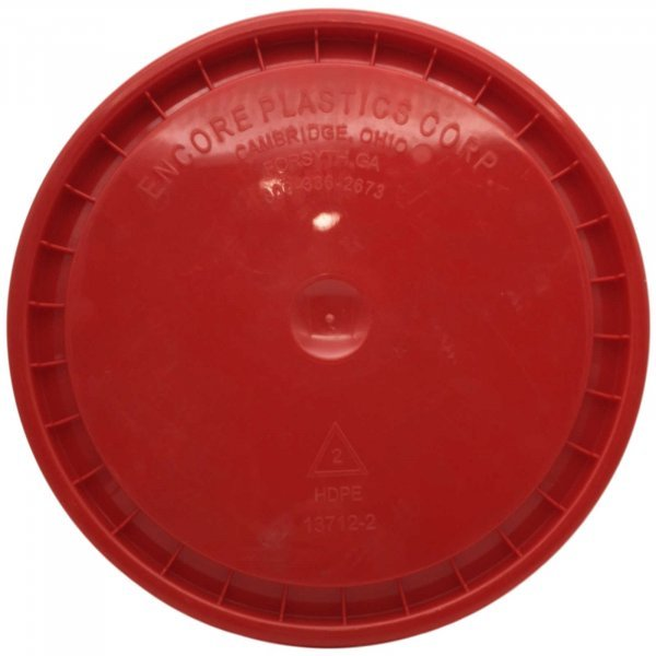 Deckel für GritGuard Wascheimer, rot